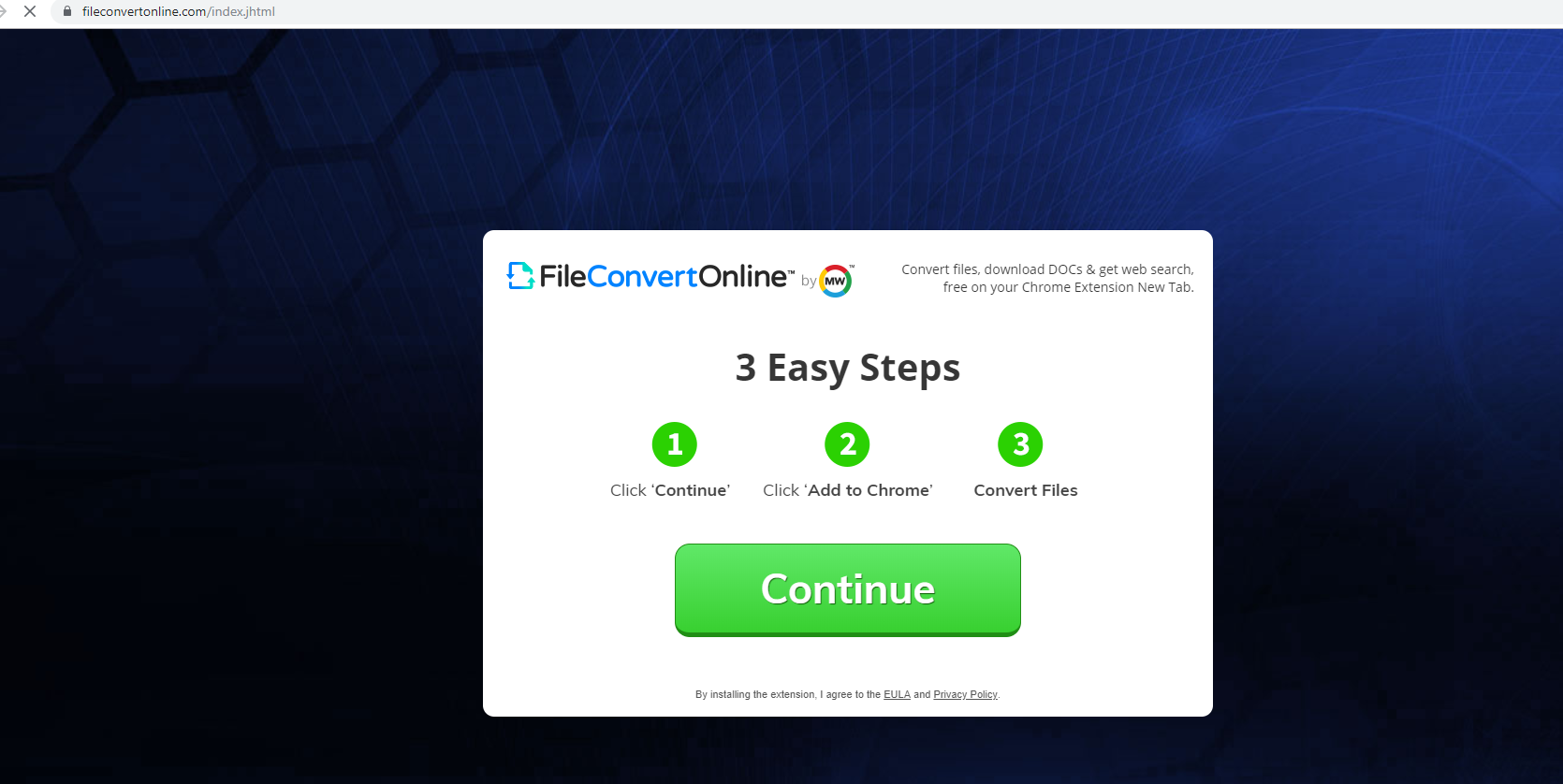 FileConvertOnline poisto