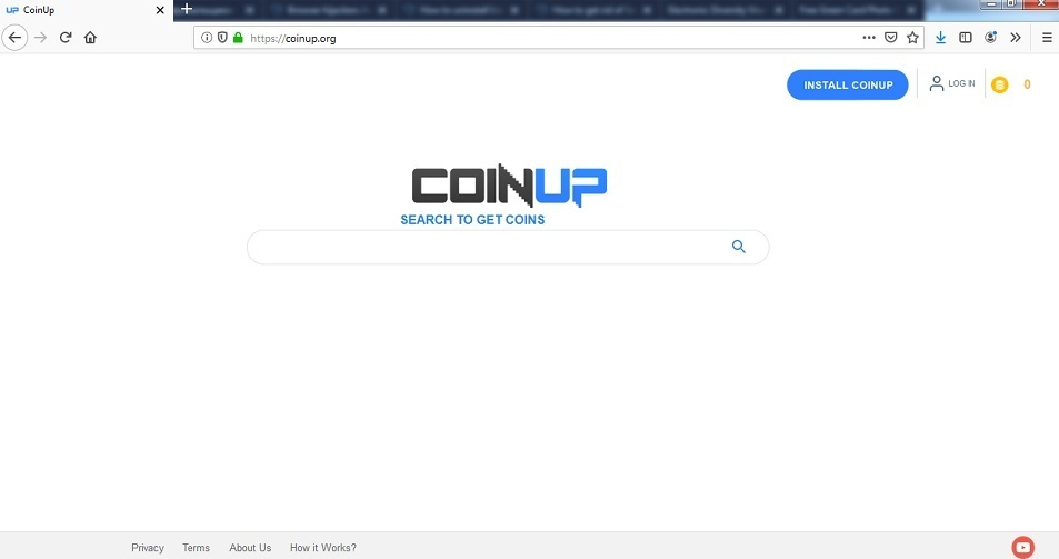 Coinup.org fjerning
